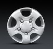 Metal hubcap or wheel trim Royalty Free Stock Image