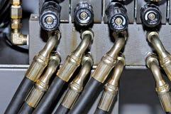 Metal i gumowe tubki wysokość nacisk zdjęcie royalty free