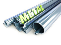 Metal i tubi, gli angoli, i canali, quadrati Fotografia Stock