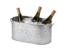 Metal ice bucket royalty free stock images