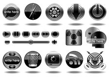 Metal icons-Illustration-vector icons Royalty Free Stock Image