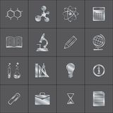 Metal icons of a science Stock Photos