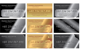 Metal identity cards. Illustration Royalty Free Stock Images