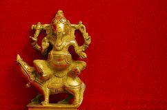 Metal idols of Lord Ganesha, also known as Ganapati or Vinayaka. Metal idol of Lord Ganesha, also known as Ganapati or Vinayaka, his image is found throughout Royalty Free Stock Image