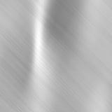 Piatto metallico d'acciaio spazzolato Fotografie Stock Libere da Diritti