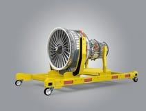 Metal il motore dello stampatore 3D e del fan del getto sul supporto del motore Immagine Stock