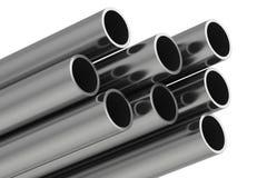 Metal il tubo illustrazione della rappresentazione 3D isolata su fondo bianco Immagini Stock Libere da Diritti