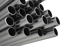 Metal il tubo Isolato su priorità bassa bianca Immagine Stock Libera da Diritti