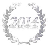 Metal of 2014 Royalty Free Stock Image