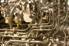 Metal industrial background. With pipes Stock Image