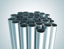 Metal industrial tubes Stock Photography