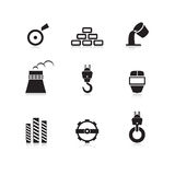 Metal industry icons set Royalty Free Stock Photos