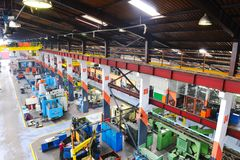 Metal industy factory indoor Royalty Free Stock Images