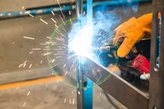Metal inert gas (MIG) welding Royalty Free Stock Photo
