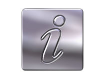 Metal information button Royalty Free Stock Photos