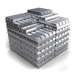 Metal ingots Royalty Free Stock Photography