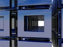 Metal installation Stock Photo