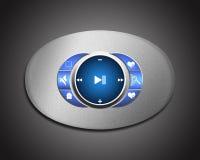 Metal interface media Player Royalty Free Stock Image