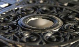 Metal ironwork circular background Royalty Free Stock Photo
