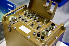 Metal jednostka dla błyskawicznego rozmieszczenia komunikacje dla wojskowego Zdjęcia Stock