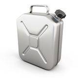 Metal jerrycan  on white background Royalty Free Stock Photography