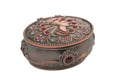 Metal  jewelry box. Stock Photography