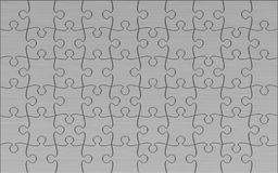 Metal Jigsaw puzzle. 3d render of Beautiful Metal Jigsaw puzzle Stock Images