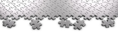 Metal Jigsaw Puzzle Stock Photo