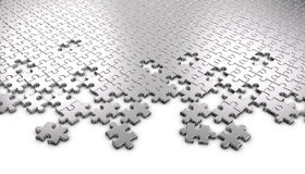 Metal Jigsaw Puzzle Pieces Stock Images