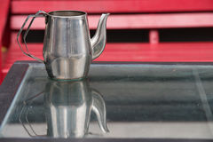 Metal jug Stock Image