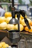 Metal juice press machine Istanbul Turkey Stock Photos