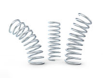 Metal jumping spring 3d  on white background Royalty Free Stock Photo