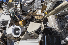 Metal junk pile for recycling Stock Photo