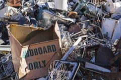 Metal junk pile dump Stock Image