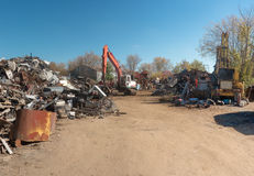 Metal Junkyard Stock Photography