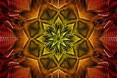 Metal Kaleidoscope Background Royalty Free Stock Images