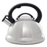 Metal kettle with whistle isolated on white background Royalty Free Stock Photography
