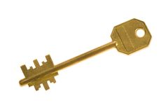 Metal key Stock Photography