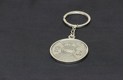 Metal key chain in calendar design Stock Photos