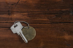 Metal key chain Royalty Free Stock Images