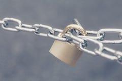 Metal key lock locked Royalty Free Stock Images