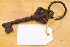 Free Metal Key On Wooden Background Royalty Free Stock Photography - 16299317