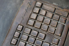 Metal keyboard Stock Image