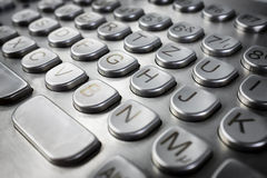 Metal keyboard Stock Photo