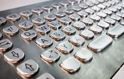 Metal keyboard Royalty Free Stock Photos