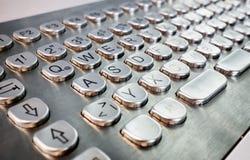 Metal keyboard Royalty Free Stock Photos