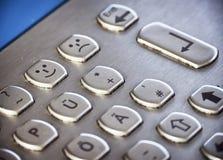 Metal keyboard Royalty Free Stock Images