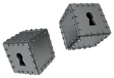 Metal Keyhole Boxes Stock Photography