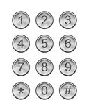 Metal keypad Stock Photography