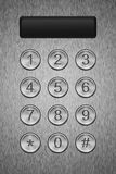 Metal keypad with display Stock Photo